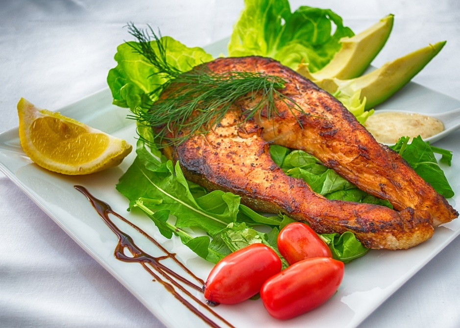 Left-over-Grilled-Salmon-Healthy-breakfast