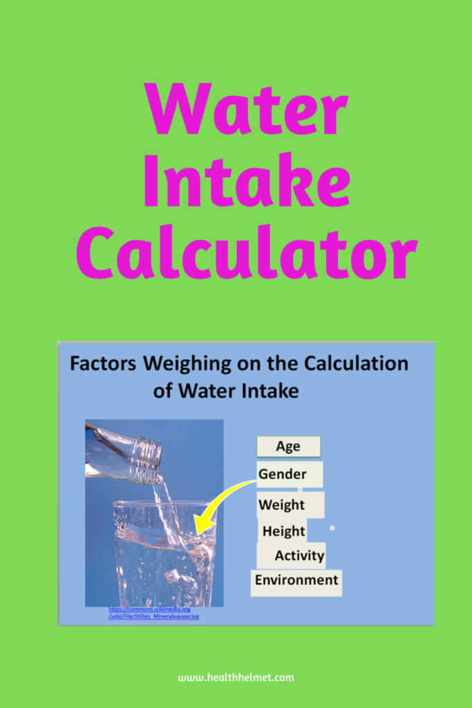 Factors-for-water intake-calculation